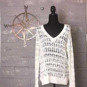 Rag and Bone open knit sweater